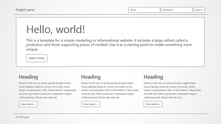 Bootstrap Wireframe Shapes