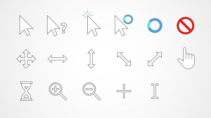 mouse cursors for powerpoint